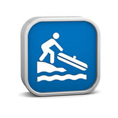 Small Boat Launch sign — Stock Photo