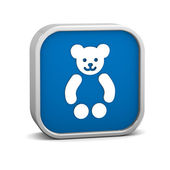 Teddy Bear sign — Stock Photo