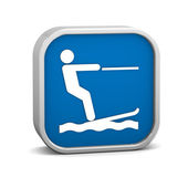 Waterskiing sign — Stock Photo