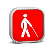 Low Vision Access Sign — Stock Photo