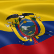 Ecuadorian flag in the wind - Stock Photo