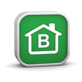 Budování energetické účinnosti b klasifikace — Stock fotografie