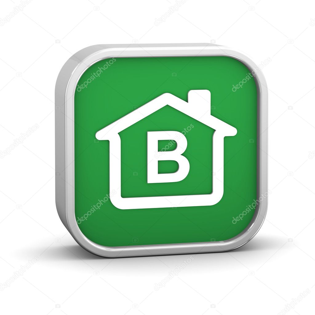 House Sign with B energy performance classification — Foto Stock #8415904