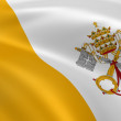 Stock Photo: VaticCity flag in wind