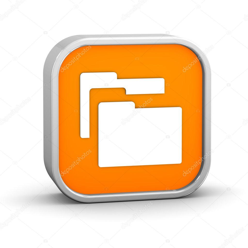 在白色背景上的文件夹标志.一系列的一部分— 照片作者 nmcandre