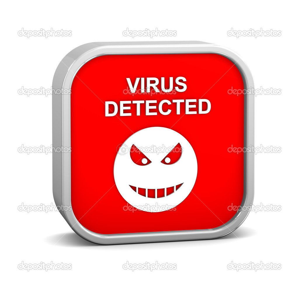Virus Detected Sign — Stock Photo © nmcandre #8868212