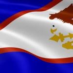 Amerikan Samoa bayrak Rüzgar — Stok fotoğraf