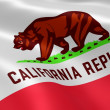 Californian flag in the wind - Stock Photo