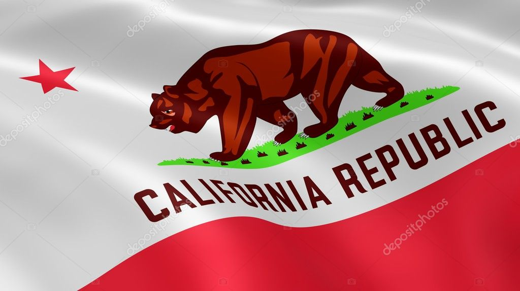 Californian flag in the wind. Part of a series. — Stock Photo #9837438