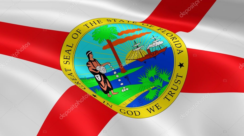 Floridian flag in the wind. Part of a series. — Stock Photo #9971166