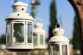 Lantern in the summer background — Stock Photo