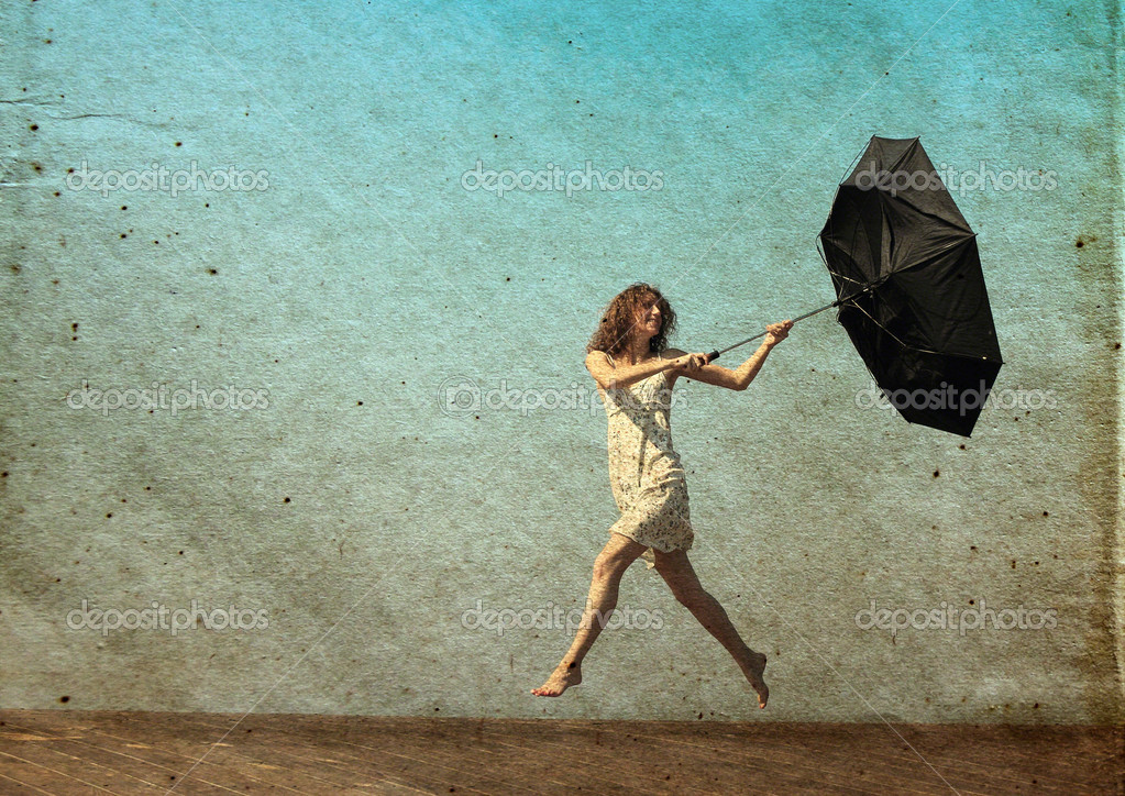 photo of girls with umbrellas № 22190