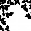 Black white leaves — Stock Photo
