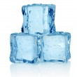 Three ice cubes isolated — Stock Photo