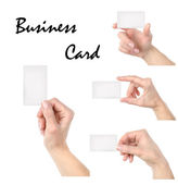 Business card collage — Stock Photo