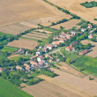 Village, aerial view - Stock Photo