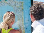 Turistas na cidade — Fotografia Stock