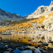 Autumn mountain lake — Stock Photo