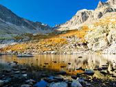Herbst bergsee — Stockfoto