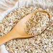 Stock Photo: Rollrd oats seed in