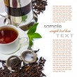 Tea accessories on a background of antique furniture — Stock Photo #10112007