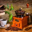 Grinder and other accessories for the coffee — Stock Photo #10297749