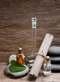 Vials with essential oils — 图库照片