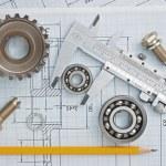 detalle de herramientas y mecanismos — Foto de Stock