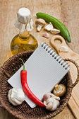 Bottle of sunflower oil and vegetables — 图库照片
