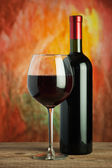Wine, glass and the bottle — Stock Photo