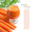 Stock Photo: Carrots and carrot juice