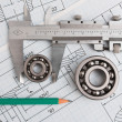 Tools and mechanisms detail — Stockfoto