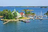 Eilanden in de buurt van helsinki in finland — Stockfoto