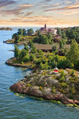 Islands near Helsinki in Finland — Stockfoto