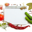 Notebook with recipes — Stock Photo