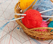 Balls with thread for knitting — Stock Photo