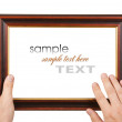 Photo Frame in the hands — Stock Photo