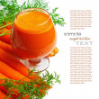 Carrots and carrot juice — Stock Photo