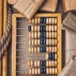 Still Life in a warehouse with  abacus — Stock fotografie