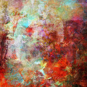 Abstract painting in mixed media style — Stock Photo