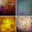 Set of grunge textures — Stock Photo