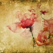 Texture with watercolor roses - Stock Photo