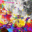 Colorful paint splash grunge - Stock Photo