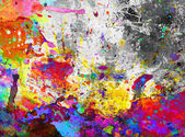 Colorful paint splash grunge — Stock Photo