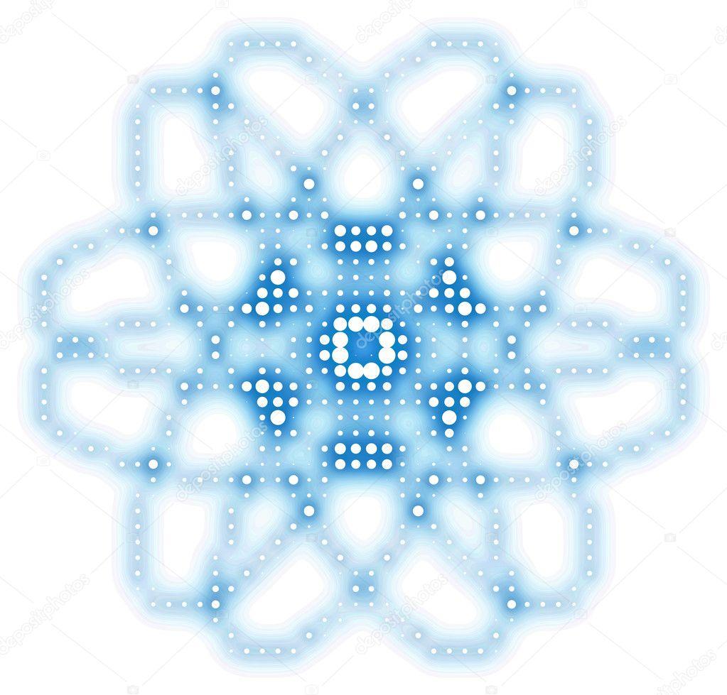 抽象原子图形-用圆和圆点图案背景 — 照片作者 mobilee