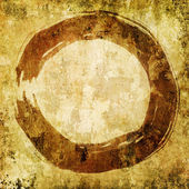 Hand painted zen circle - enso — Stock Photo