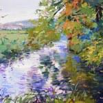 Постер, плакат: Fall landscape painting