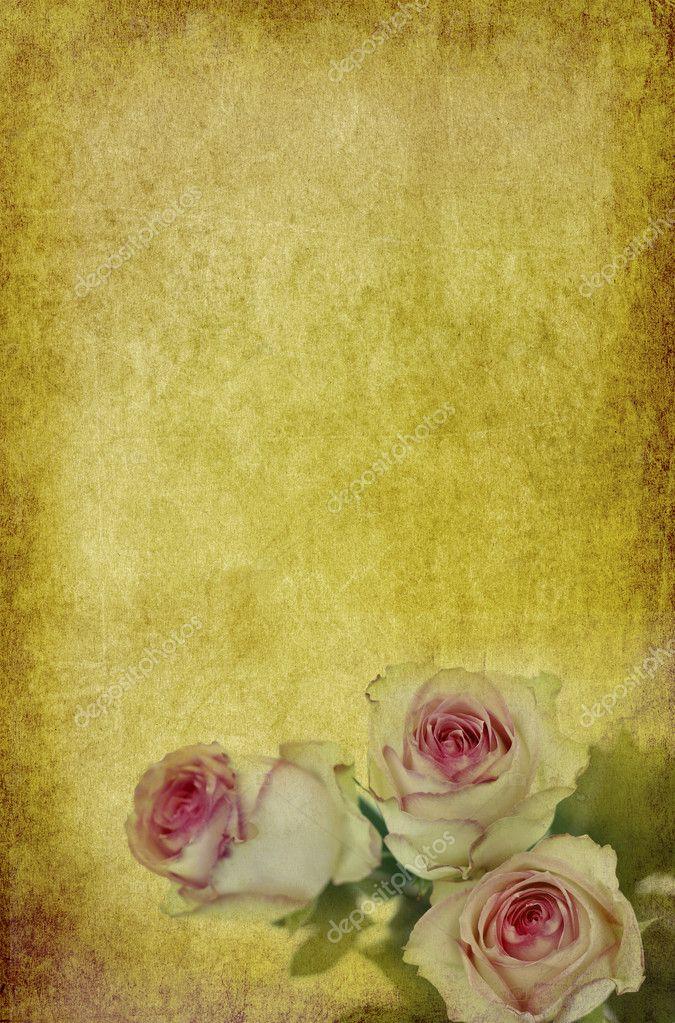 Rosas en papel antiguo — Foto de stock © Mobilee #9692714