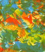 Acrílicos texturizados com uma faca de pintura — Foto Stock