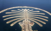 Desenvolvimento de ilha de palm jumeirah em dubai — Foto Stock